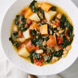 Winter Potato, Kale and White Bean Soup