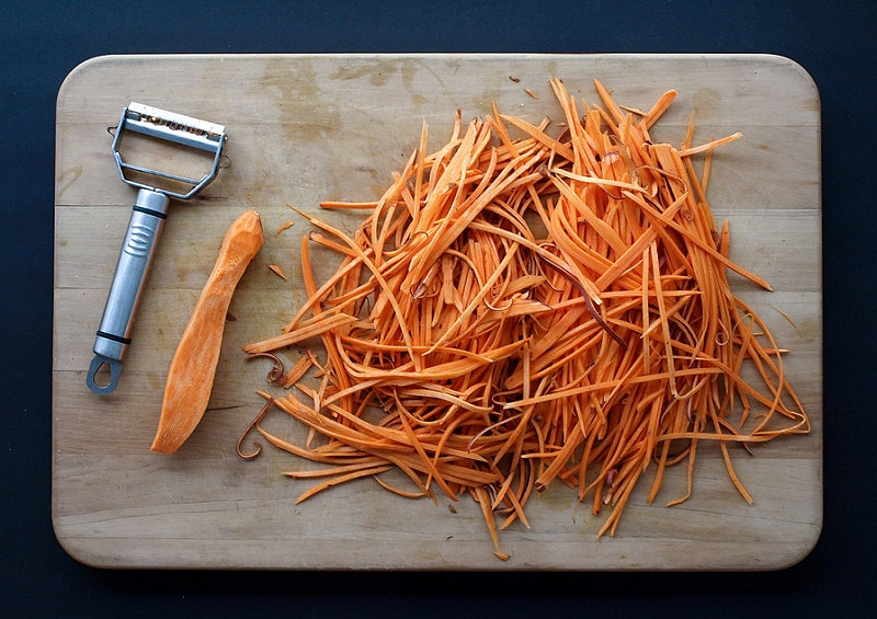 Baked Sweet Potato Shoestring Fries