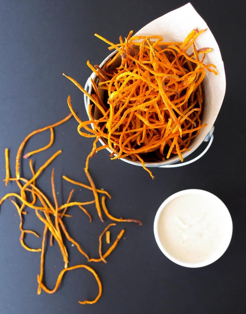 Baked Sweet Potato Shoestring Fies