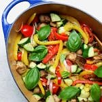 the beat chickpea ratatouille in a large pot