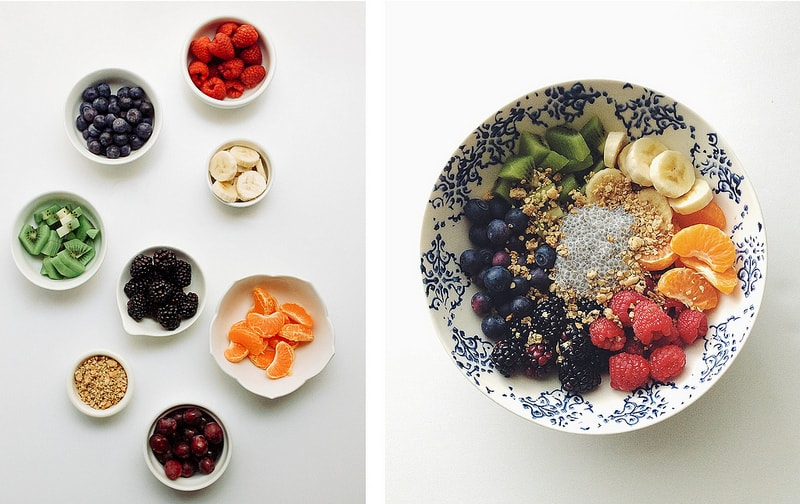 VANILLA CHIA PUDDING RECIPE: with a variety of fruits
