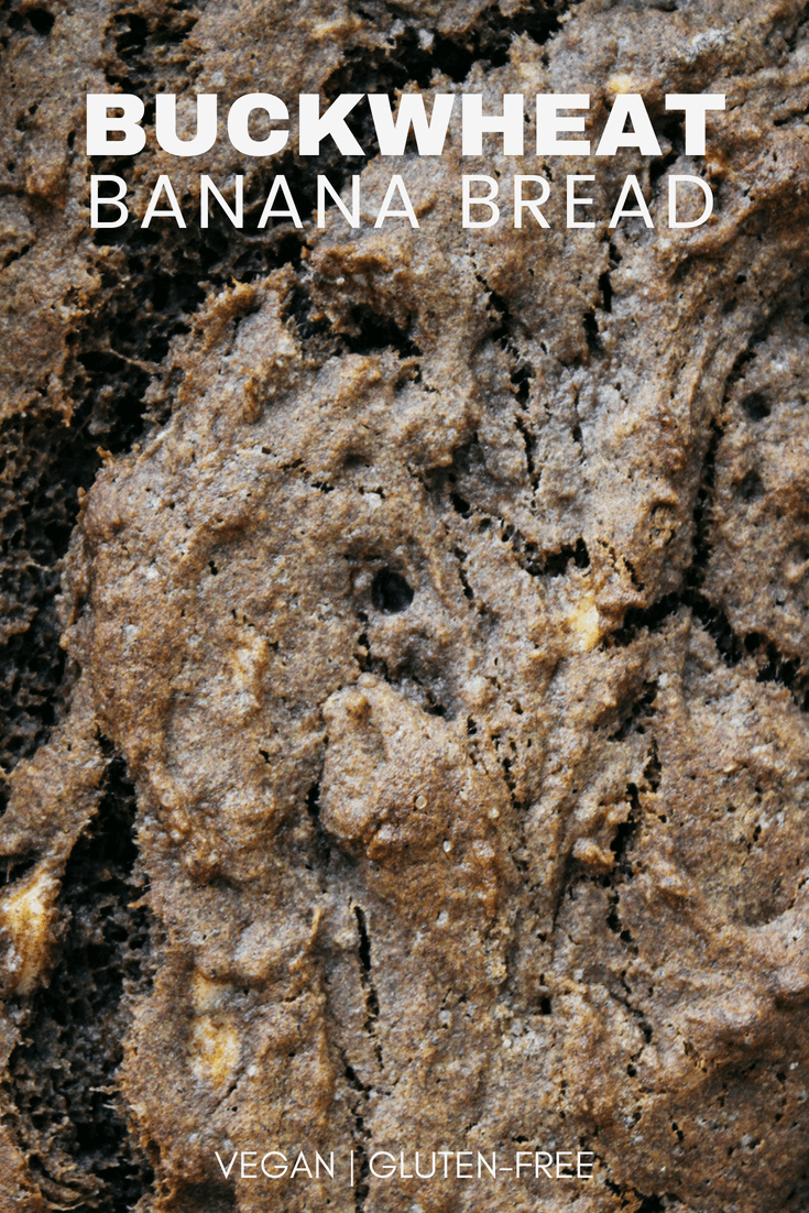 buckwheat banana bread upclose