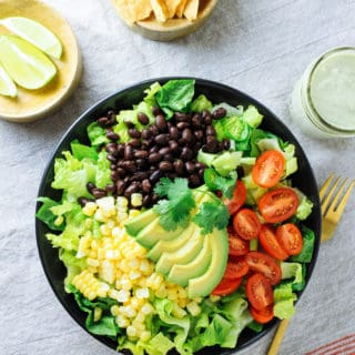 SOUTHWESTERN SALAD + HATCH CHILE CASHEW DRESSING