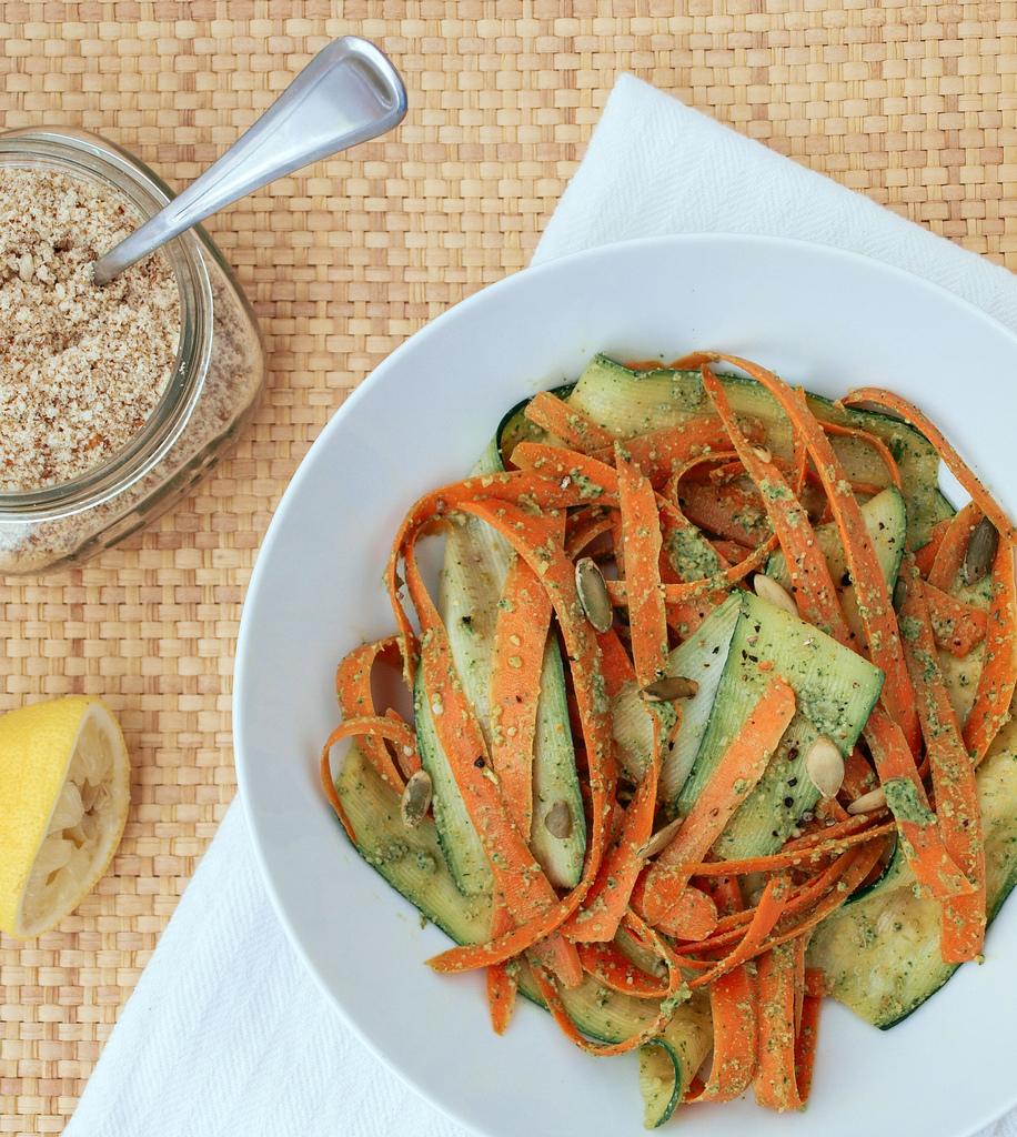 carrot-zucchini-ribbons-cilantro-pepito-pesto