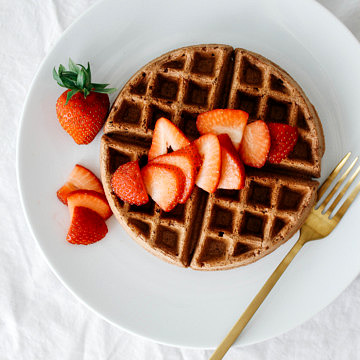 whole-wheat-chocolate-waffles