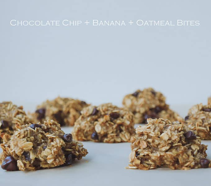 CHOCOLATE CHIP + BANANA + OATMEAL BITES