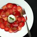 Plum Carpaccio + Lemon Ginger Cream