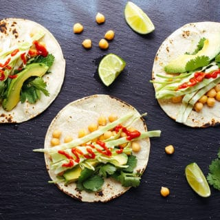 quick and easy chickpea tacos