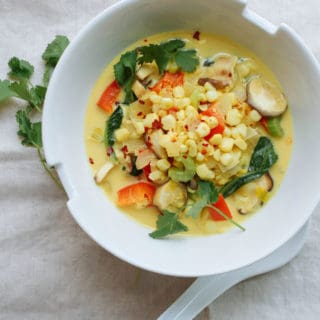 spicy thai corn curry soup