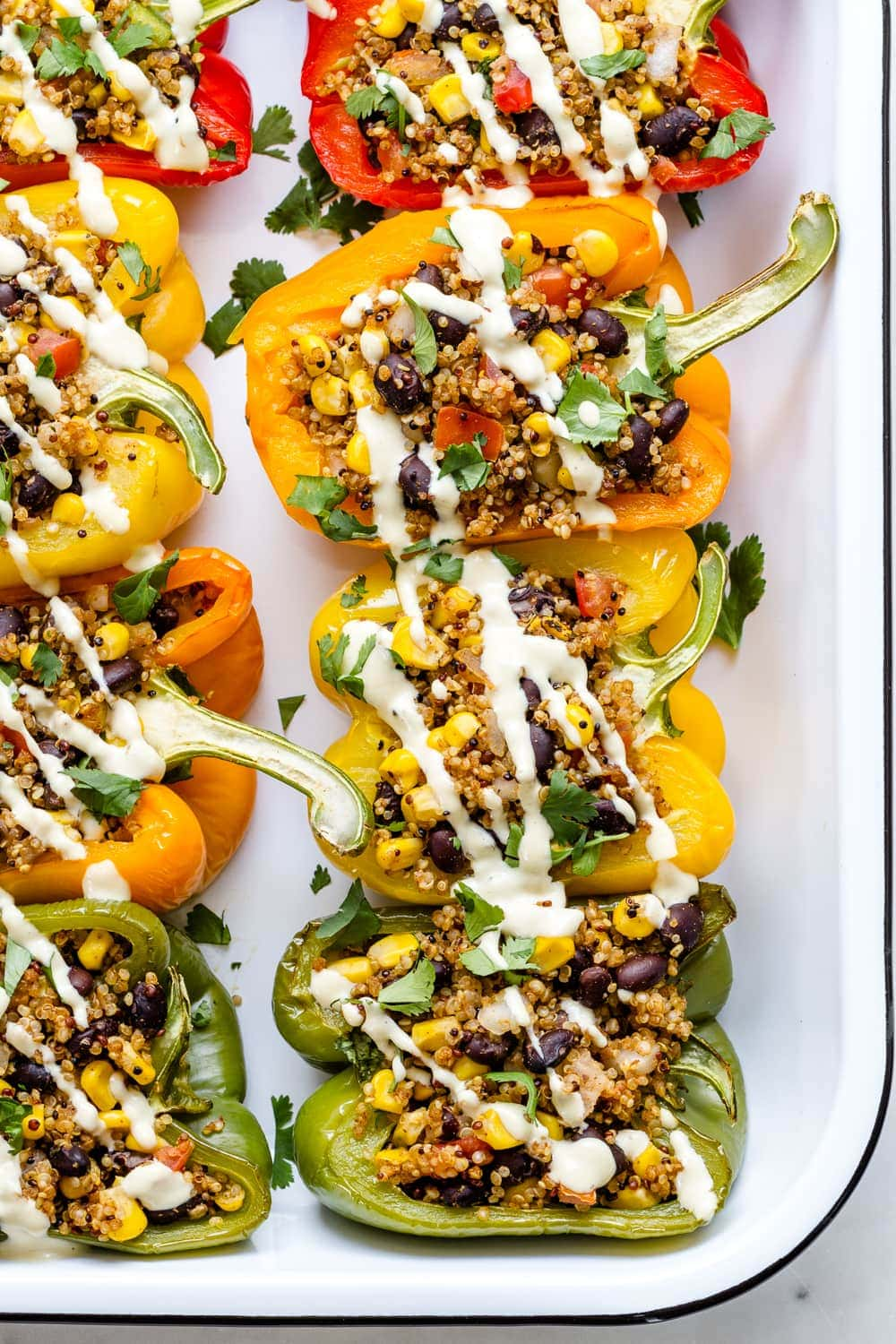 Quinoa Stuffed Peppers Easy Vegan The Simple Veganista