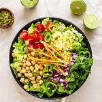 SOUTHWEST CHICKPEA SALAD + CREAMY AVOCADO-LIME DRESSING