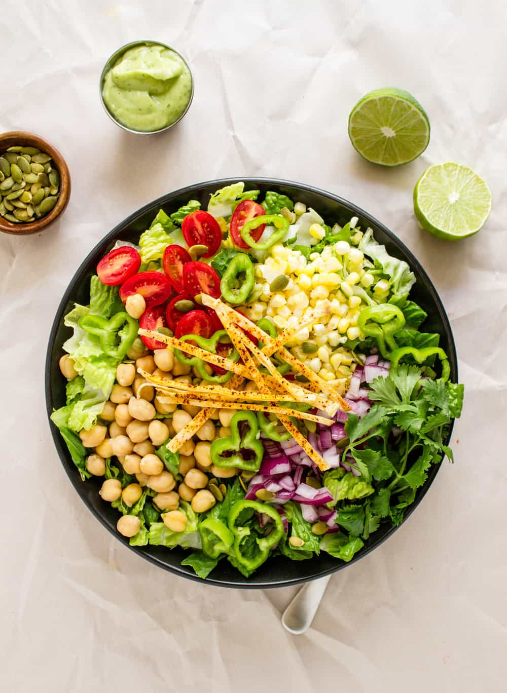 SOUTHWEST CHICKPEA SALAD + CREAMY AVOCADO-LIME DRESSING ...