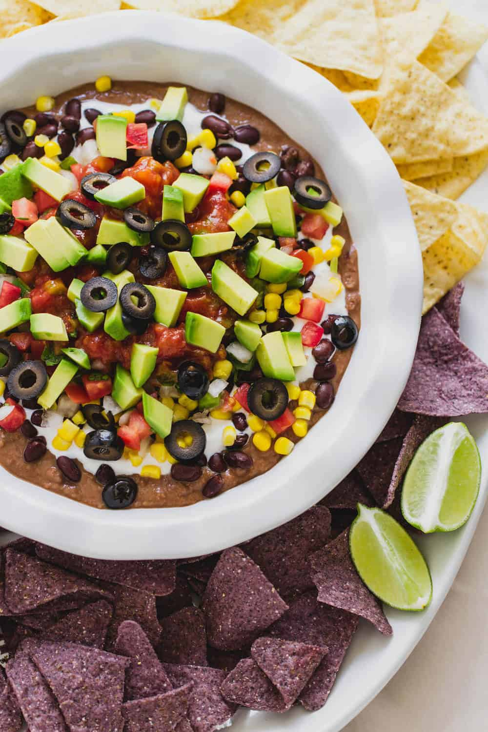 vegan 7 layer mexican bean dip
