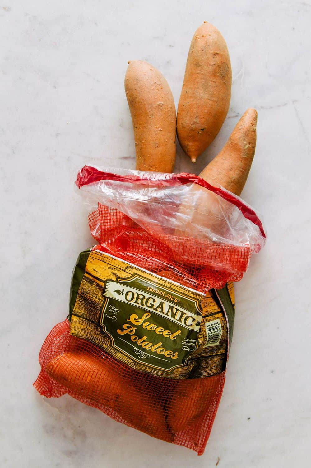 sweet potatoes in bag