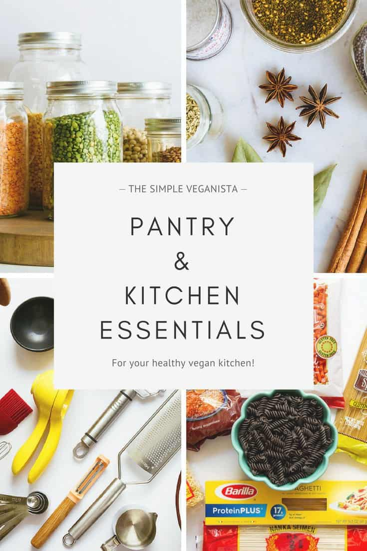 vegan kitchen and pantry essentials