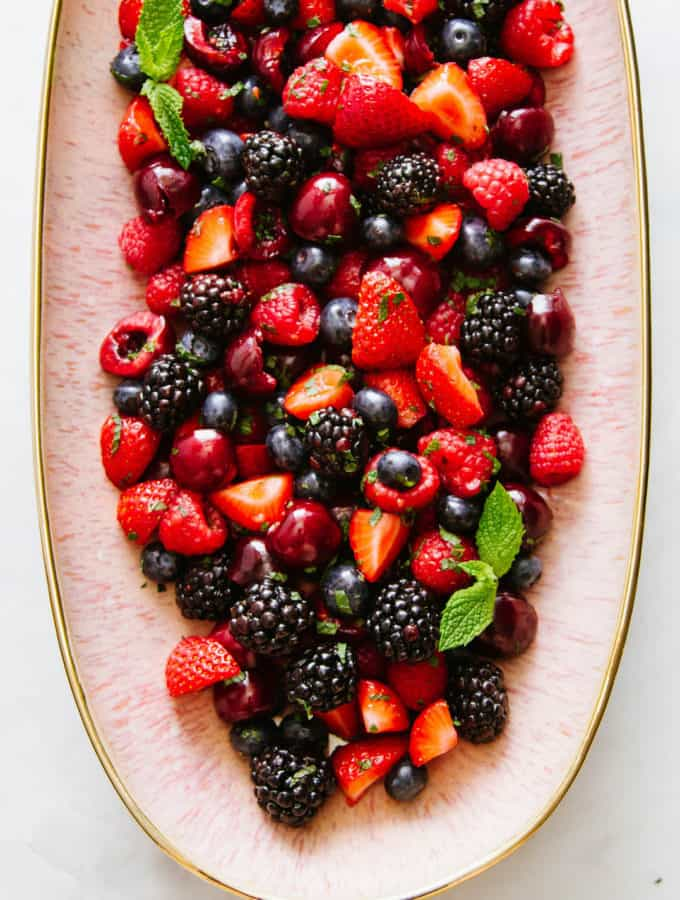Summer Cherry-Berry Fruit Salad