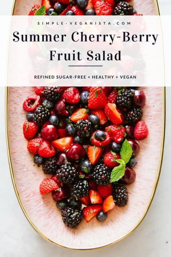 Summer Cherry-Berry Fruit Salad