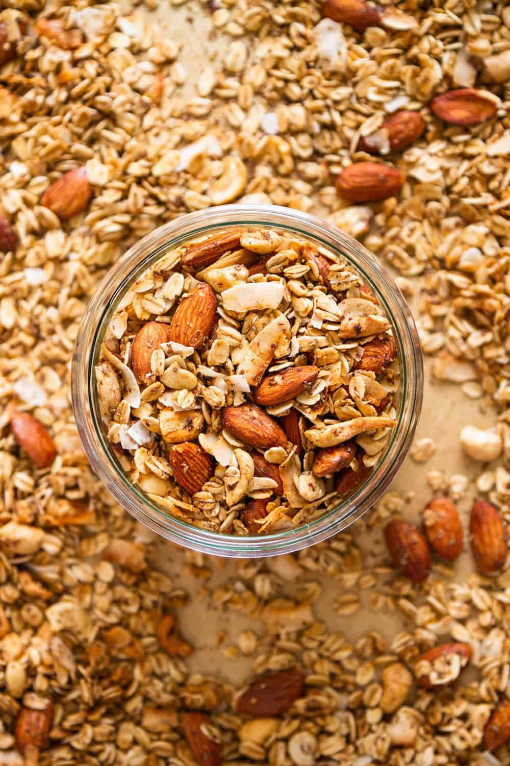 easy healthy homemade granola in a jar