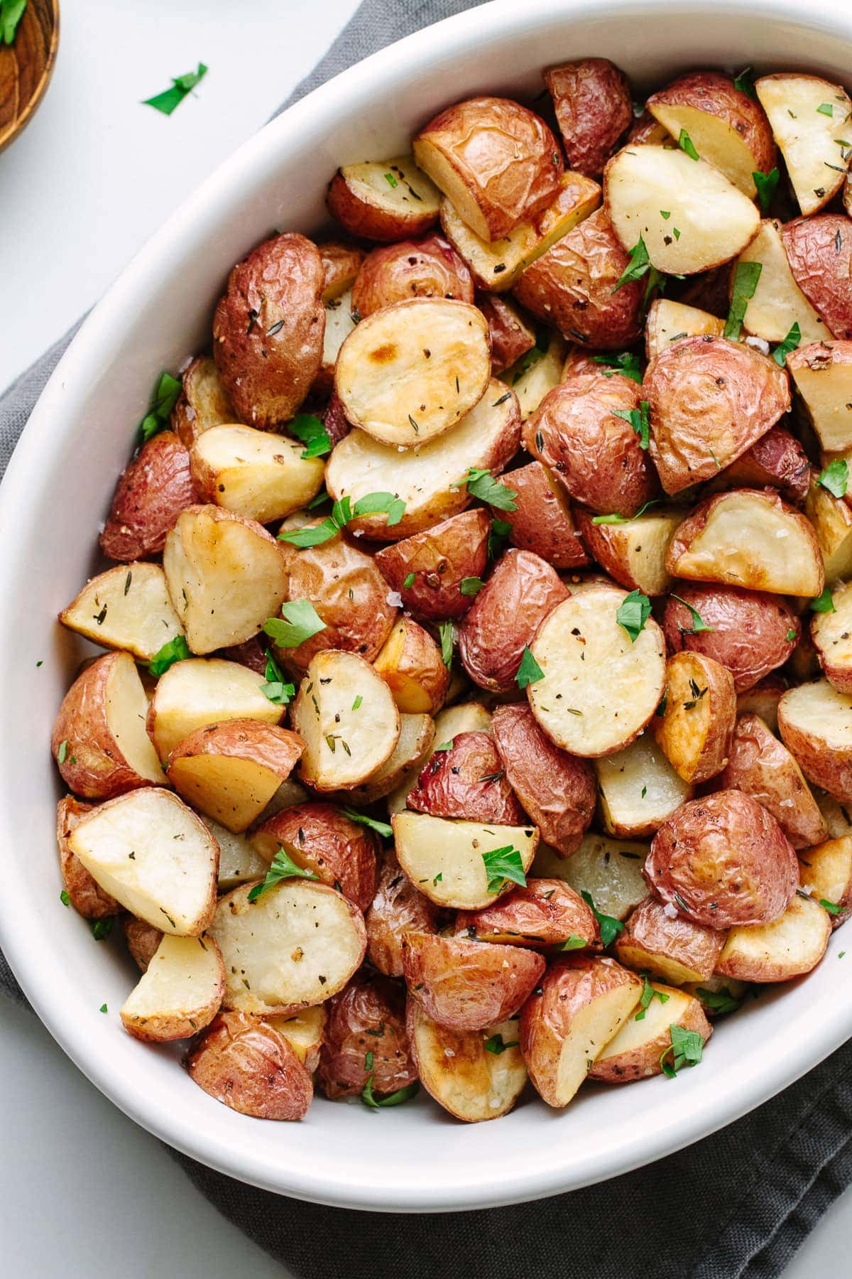 Easy Oven Roasted Red Potatoes The Simple Veganista