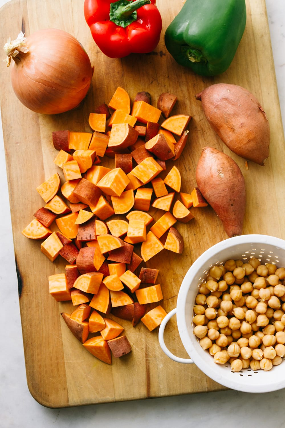 chickpea sweet potato breakfast hash ingredients