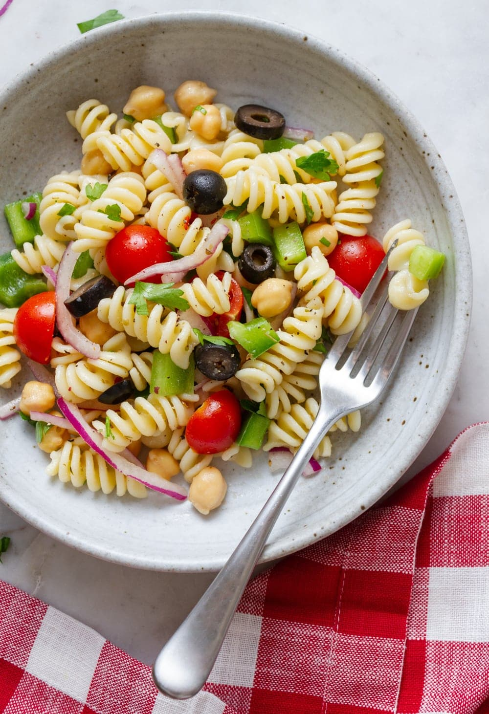 Quick and Easy Vegan Pasta Salad