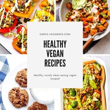 healthy vegan recipes index graphic for simple-veganista.com