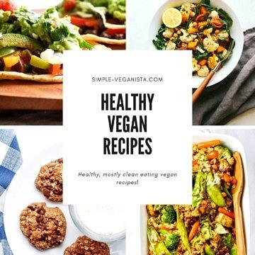 healthy vegan recipe graphic.