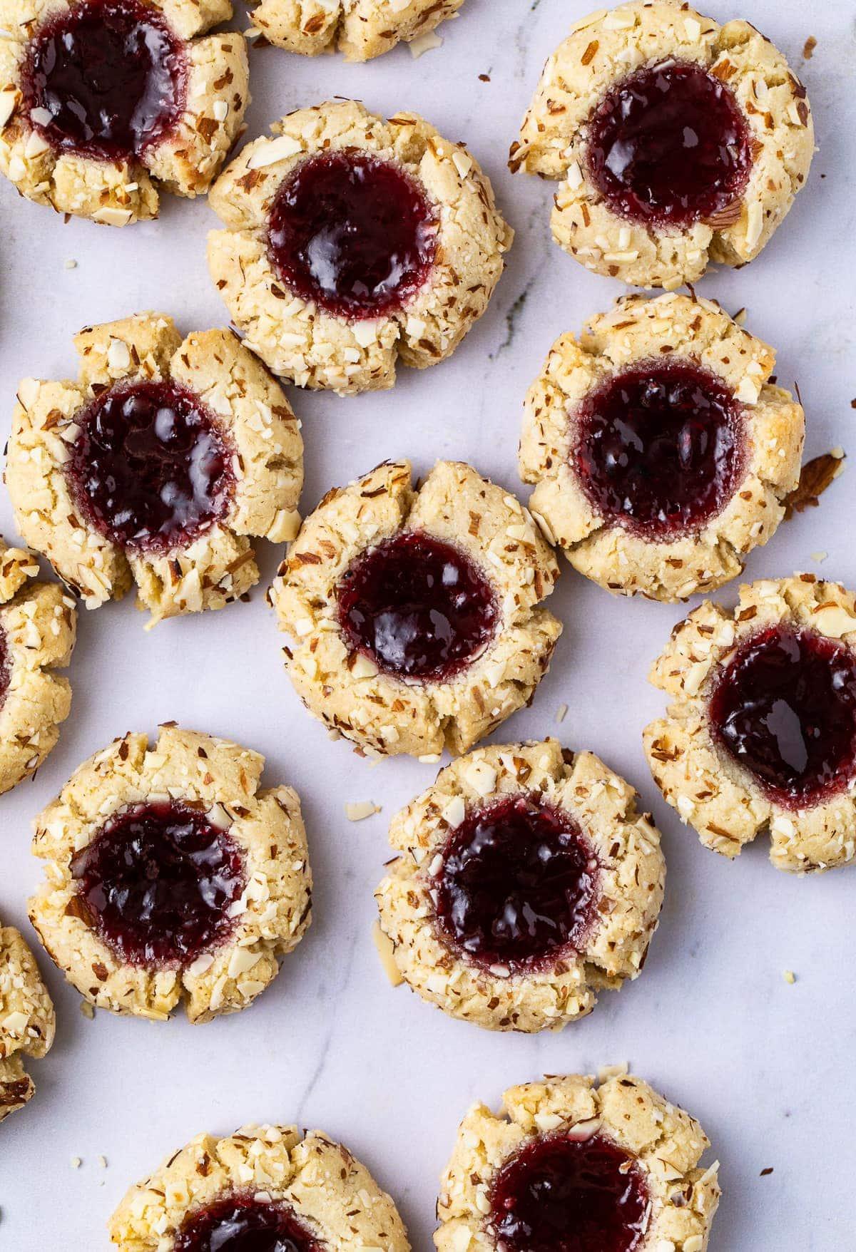 Almond Flour Low Carb Thumbprint Cookies
